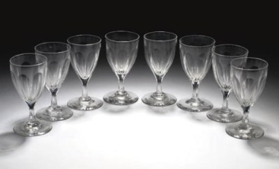 EIGHT CUT WINE-GLASSES