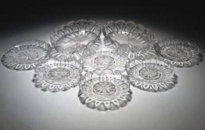 A PART CUT-GLASS TABLE-SERVICE