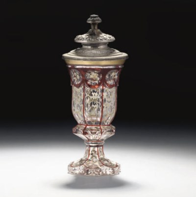 A BOHEMIAN GOBLET AND A WHITE