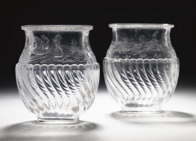 A PAIR OF FRENCH ROCK-CRYSTAL-