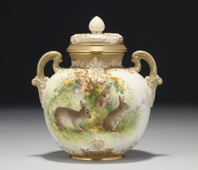 A ROYAL WORCESTER GLOBULAR TWO