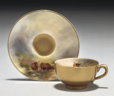 A ROYAL WORCESTER CABINET-CUP