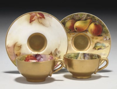 TWO ROYAL WORCESTER CABINET-CU