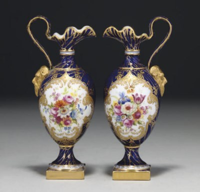 A PAIR OF ROYAL WORCESTER DARK