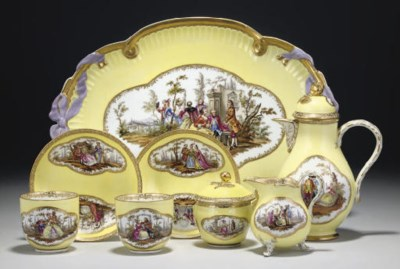 A MEISSEN COMPOSITE YELLOW-GRO