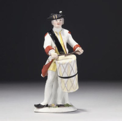A MEISSEN FIGURE OF A MILITARY