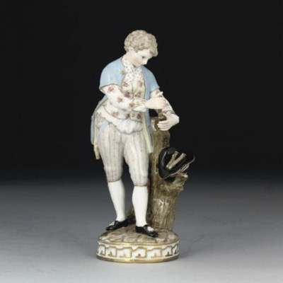 A MEISSEN FIGURE OF A YOUTH