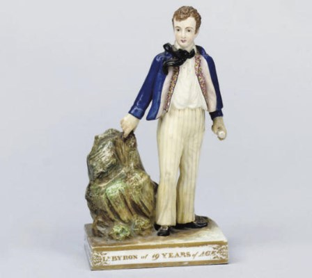 A MINTON FIGURE OF LORD BYRON
