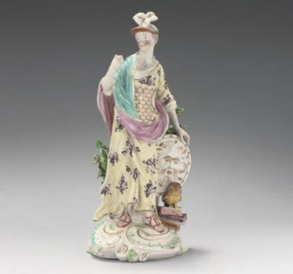 A DERBY FIGURE OF MINERVA