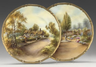 TWO ROYAL WORCESTER CABINET PL