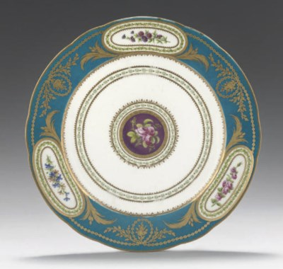 A SEVRES PLATE