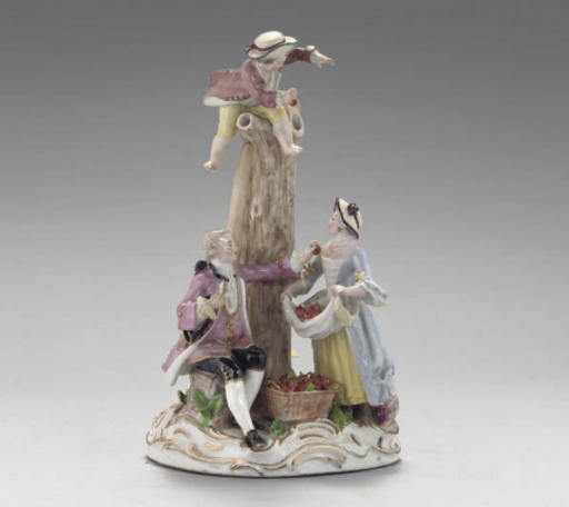A MEISSEN FIGURE GROUP OF CHER