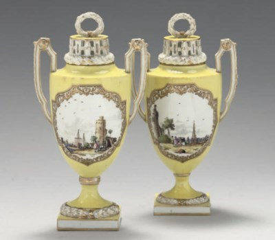 TWO MEISSEN (MARCOLINI) YELLOW