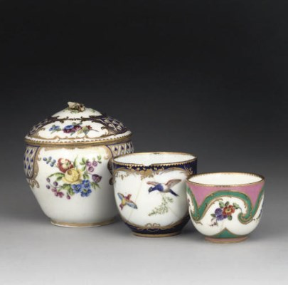 TWO VINCENNES CUPS, A SEVRES S