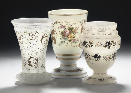 THREE CONTINENTAL GLASS GOBLET