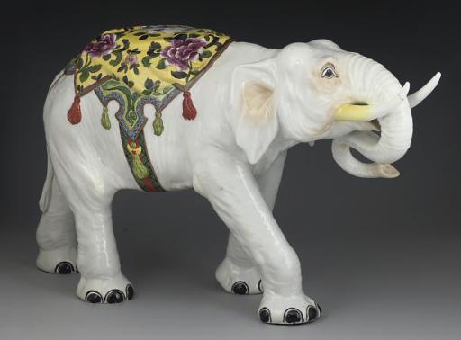 A SAMSON MODEL OF AN ELEPHANT