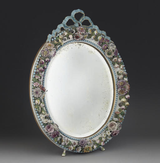 A CONTINENTAL PORCELAIN OVAL M