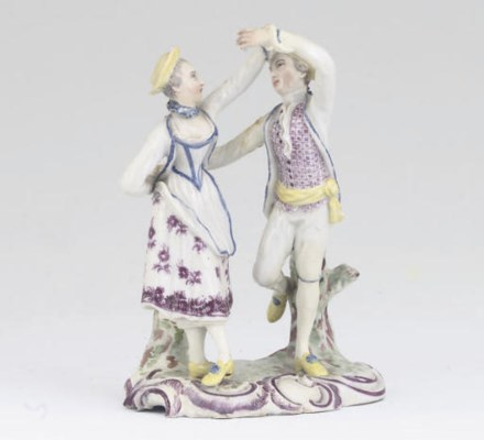 A LUDWIGSBURG GROUP OF DANCERS