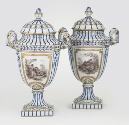 A PAIR OF SEVRES STYLE TWO-HAN