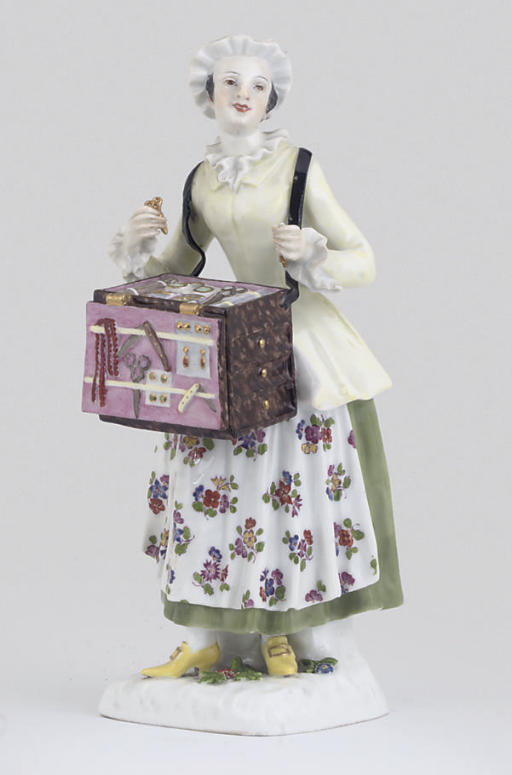 A MEISSEN FIGURE OF A STREET V