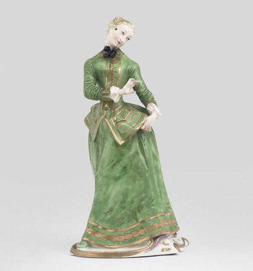 A NYMPHENBURG FIGURE OF JULIA