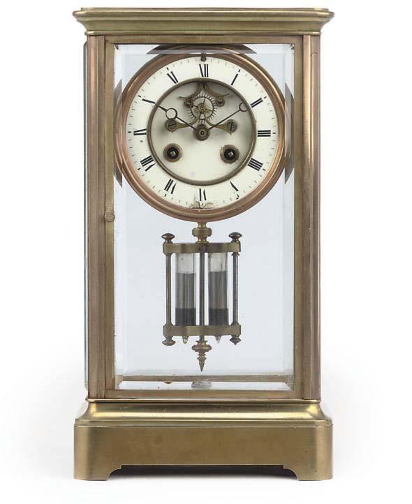 A French brass four-glass stri
