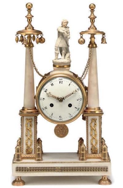 A Louis XVI white marble and o