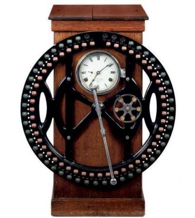An English oak clocking-in mac
