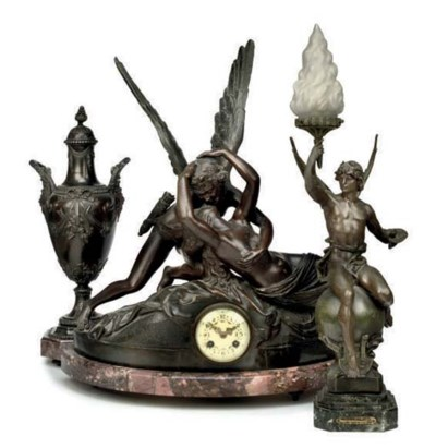 A French figural eight day str