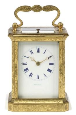 A French engraved gilt-brass e