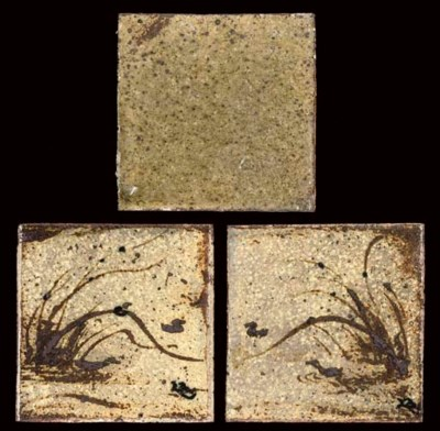 BERNARD LEACH; THREE TILES