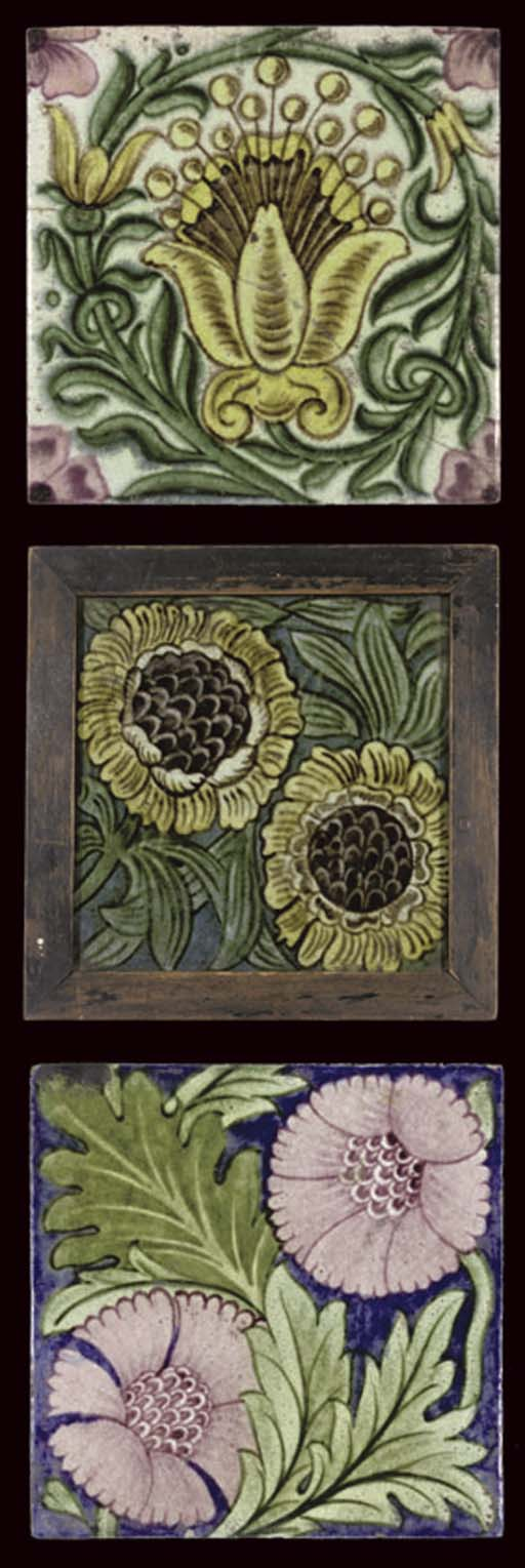 WILLIAM DE MORGAN; ASTER TILE