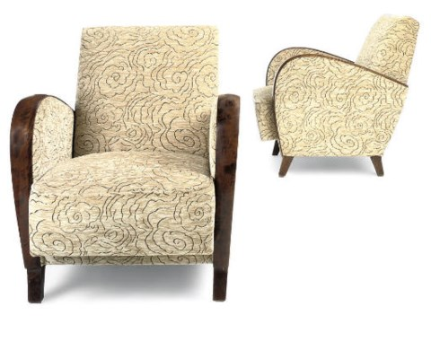 A PAIR OF SWEDISH ARMCHAIRS