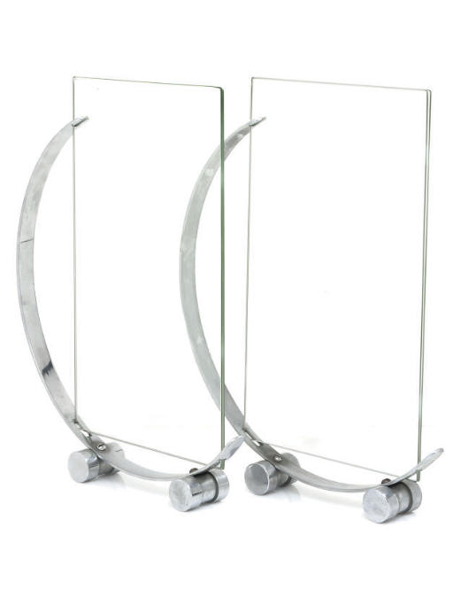 TWO CHROME-PLATED PHOTOGRAPH F