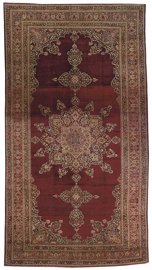 An antique Tabriz carpet, Nort