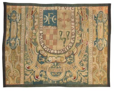 A SPANISH ARMORIAL TAPESTRY FR
