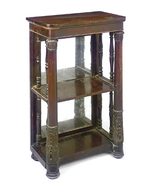 A WILLIAM IV ROSEWOOD ETAGERE