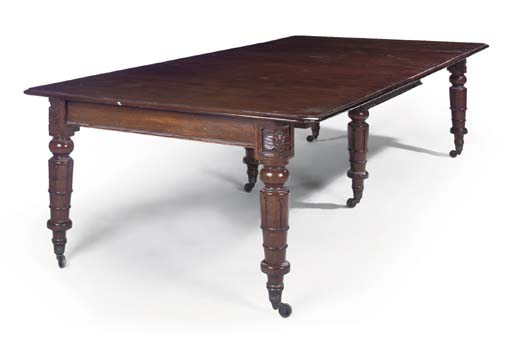 A WILLIAM IV MAHOGANY EXTENDIN