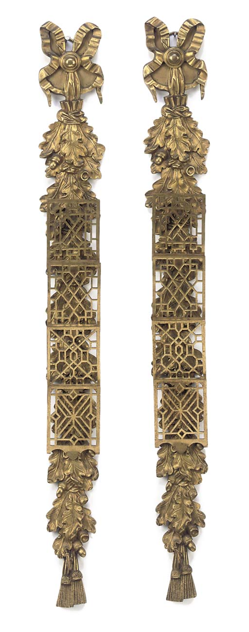 A PAIR OF GILT BRONZE LETTER R