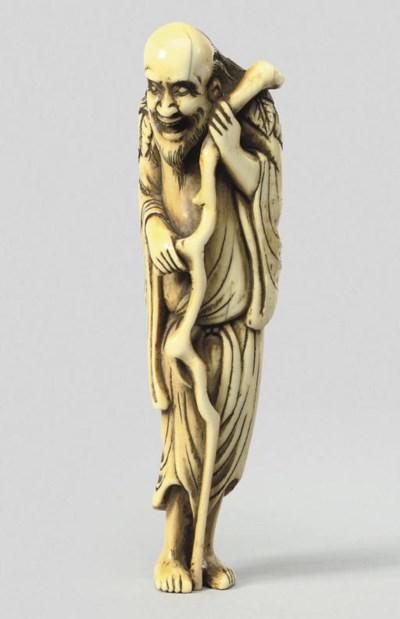 An ivory figure of a Sennin, 1