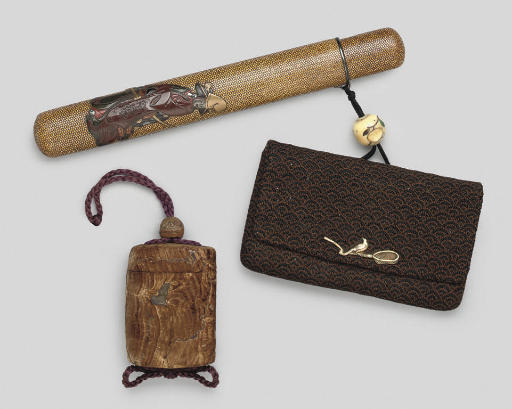 A pipecase, a tobacco pouch an