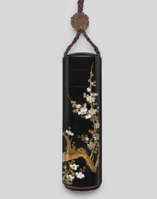 A Seven-case lacquer inro, sig