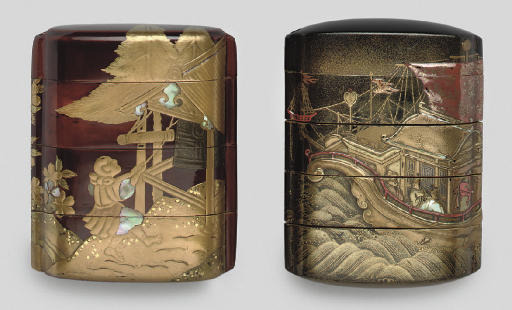 Two lacquer inro, early 19th C