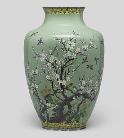 A large cloisonne vase, by Hay