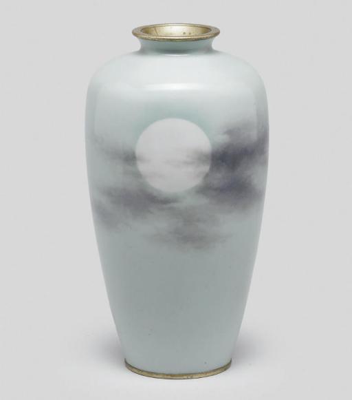 A wireless cloisonne vase, Mei