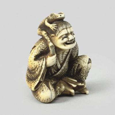 An ivory study of Gama Sennin,