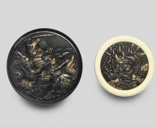Two Kagamibuta netsuke, 19th C