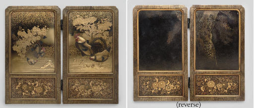 A two-fold lacquer screen, Mei