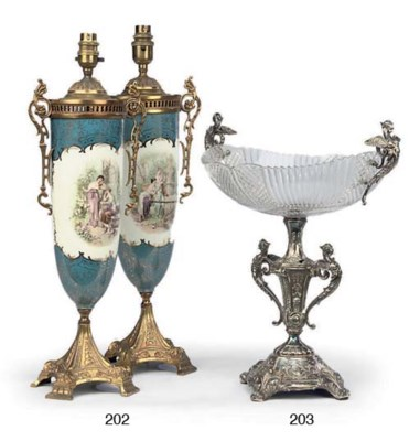 A PAIR OF FRENCH GILT-BRASS MO