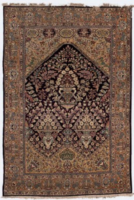 A fine Qum prayer rug